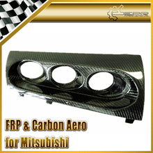 EPR Car Styling For Mitsubishi Evolution EVO 10 M7 Style Carbon Fiber Triple Gauge Pod Holder 60mm(RHD)