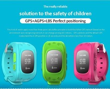 Q50 GPS Tracker Watch Children Safety Monitoring Portable GPS Intelligent Smart Watch Telephone English Version Built-in Batte