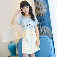 Buy Girl Nightdress New 2018 summer Fashion Princess Cartoon Long Kids cute SleepDress Cotton Children sweet Nightgowns Girl Gift for $5.80 in AliExpress store