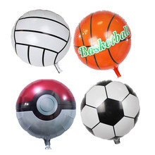 new hot 18 inch football balloons children's toys wholesale wedding party decoration balloons for baby gift basketball voleibol