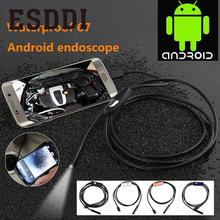 Esddi 7mm Lens Android Endoscope IP67 Inspection Snake LED Camera Soft/Hard Cable Professional Inspection Pipe Mini Camcorder(China)