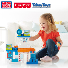 2017 New Genuine Brand Fisher Price Mega Bloks Skybright Airport Building Blocks Toy Bloque De Edificio Baby Funny Toy DPJ56(China)