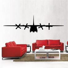 New clew C 130 Military Army Airplane removable Vinyl Wall Decal Home Decor Large(China)