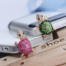 Fashion Style Cute Turtle Shape Design Mobile Phone Ear Cap Dust Plug For Iphone For Samsung 3.5mm Earphone Dust Plug(China)