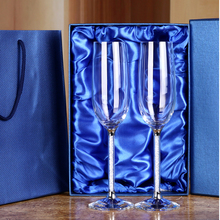 1 Set Customized Wedding Champagne Flutes Crystalline Glasses Party Goblets Crystal wedding Wine - Customizable Crystals Houseware Decor Store store