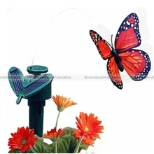 Solar Power Color Butterflies Garden Yard Decoration Outdoor Kids SMB 41014302(China)