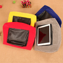Portable Ipad Pillow Plush Computer Tablet Holder Cushion Read Supports Accessories For Home Car Airplane Travel