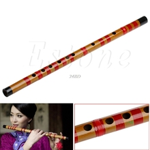 Traditional Long Bamboo Flute Clarinet Student Musical Instrument 7 Hole in F Key A03_15