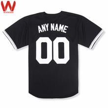 Custom Made Men/Women/Youth High Quality Embroidered Logos&Name&Number Baseball Jerseys Color White Black CHISOX(China)