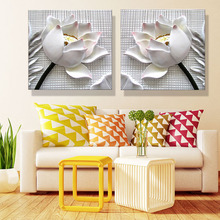 Frameless 2 board this Mosaic wall adornment art paintings printing Mosaic wally canvas painting flowers of modern home decorati