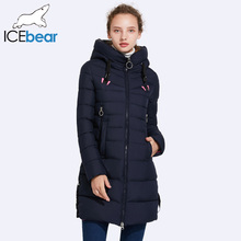 ICEbear 2017 Autumn And Winter Jacket Women New Fashion Brand Warm Coat Hat No-Removable Double Zipper Pocket 17G6158D(China)