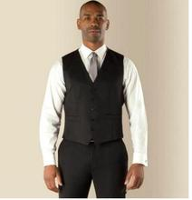 2018 New Arrival High Quality Slim Custom Made Black Men Suit vest Business Waistcoat And Suit Vest(China)