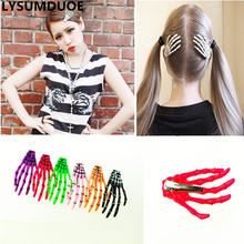 Fashion Hallowmas Gift Gothic Punk Zombie Skeleton Hand Girls Hair Clips Skull Accessories Horror Barrette Kid Accessory Hairpin
