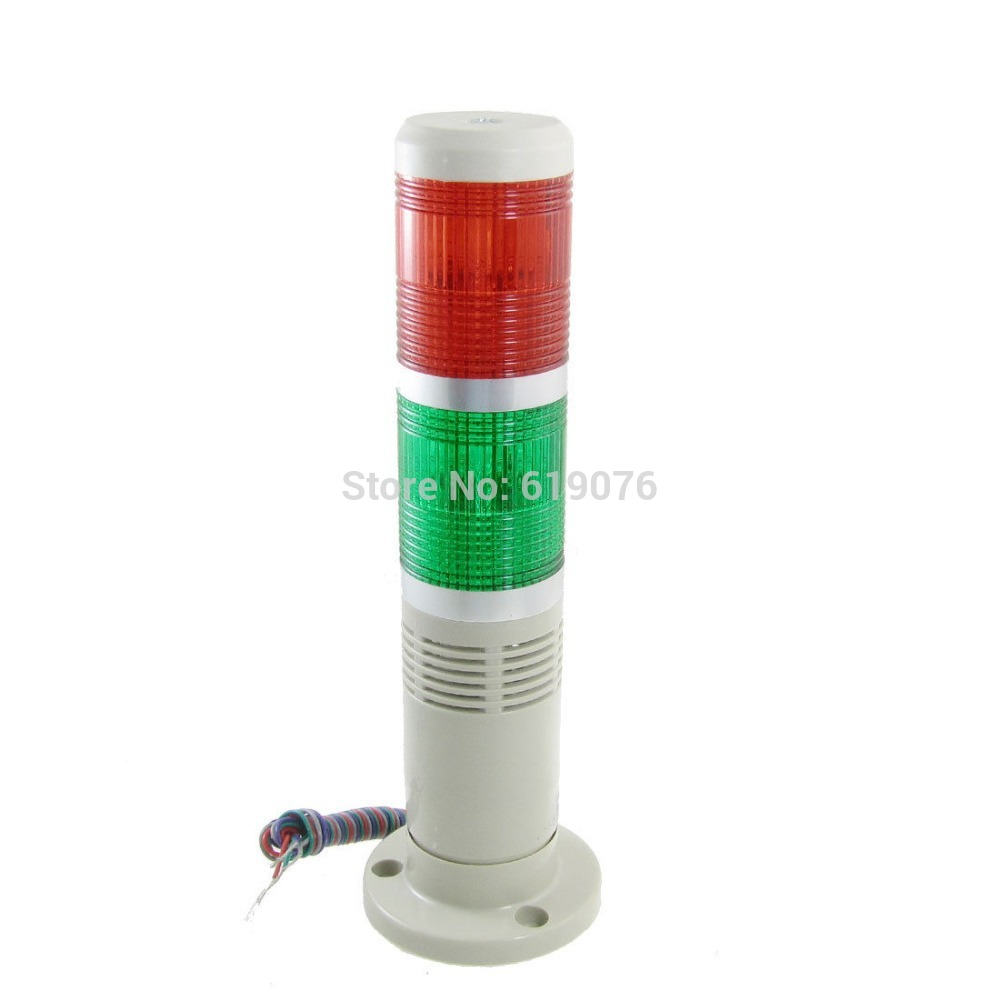 DC12V Red Green Signal Industrial Tower Lamp Warning Stack Light with Buzzer Alarm Apparatus<br><br>Aliexpress