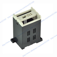 plc din rail box plastic enclosure electronic junction box (1 pc) 87*55*45mm plastic outlet box abs swith housing for pcb(China)