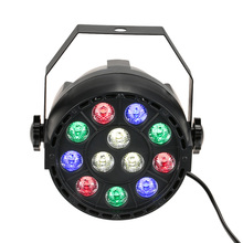 Hot Sale 8CH DMX-512 12 LED Stage Light Par 15W RGB Lighting With Remote Contrller for Laser Projector Party Club DJ House Disco(China)