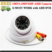 New Arrival AHD CCTV Camera Surveillance 1080P 960P 720P Indoor Video Camera Security 24 IR LEDS Plastic Shell Hot(China)