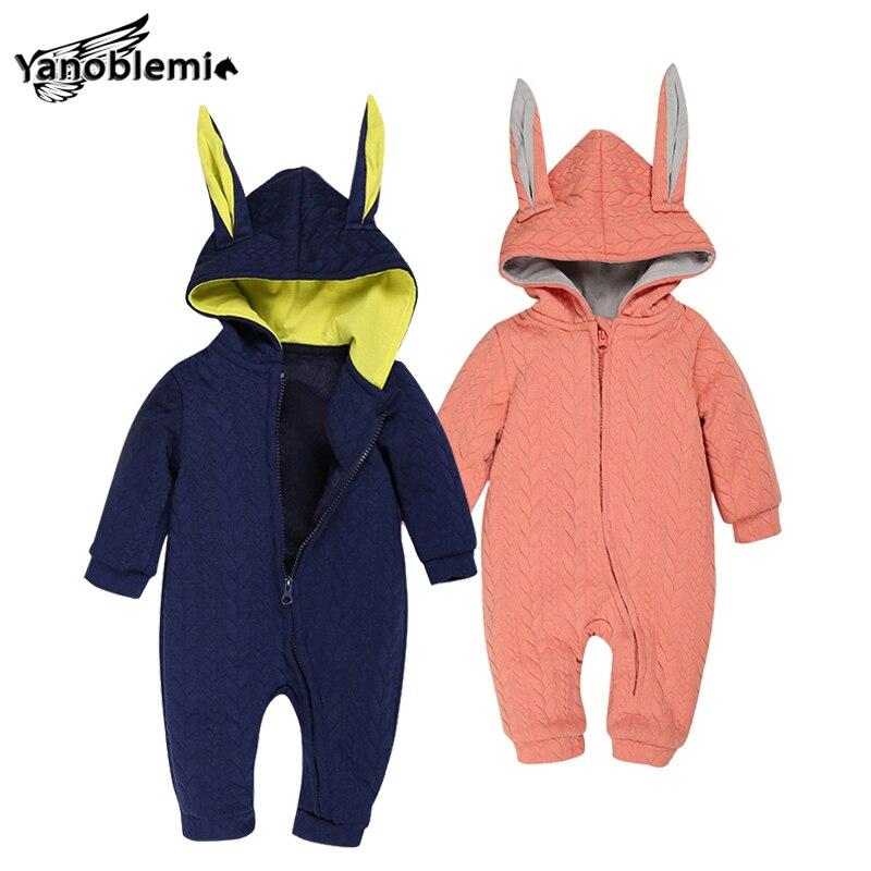 Bunny Rompers For Baby Boys Girls Cotton Clothes Jumpsuit Children Winter Cartoon Pajama Suit Coveralls Newborns Rabbit Romper<br><br>Aliexpress
