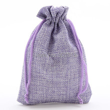 10pcs/lot 10*14cm Purple Cloth Fabric Christmas Wedding Gift Bag Jewelry Packaging Pouches Drawstring 3.94' * 5.51' F1945A