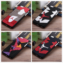 Hot Jordan sneakers 4 6 7 Sole PVC Rubber Cell Phone For iphone 5 5s SE 6 6s 6Plus 6sPlus 7 7Plus men's sport basketball Cover