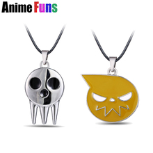 2 types Anime Soul Eater Death Kid Skull Ghost Logo Choker Necklace for women man Charm Cosplay Jewelry Birthday Gift drop-ship(China)