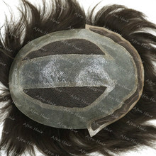 Mens Hair Systems Toupee Make Your Own Hair Pieces Super Invisible Thin Skin Brazilian Hair H086