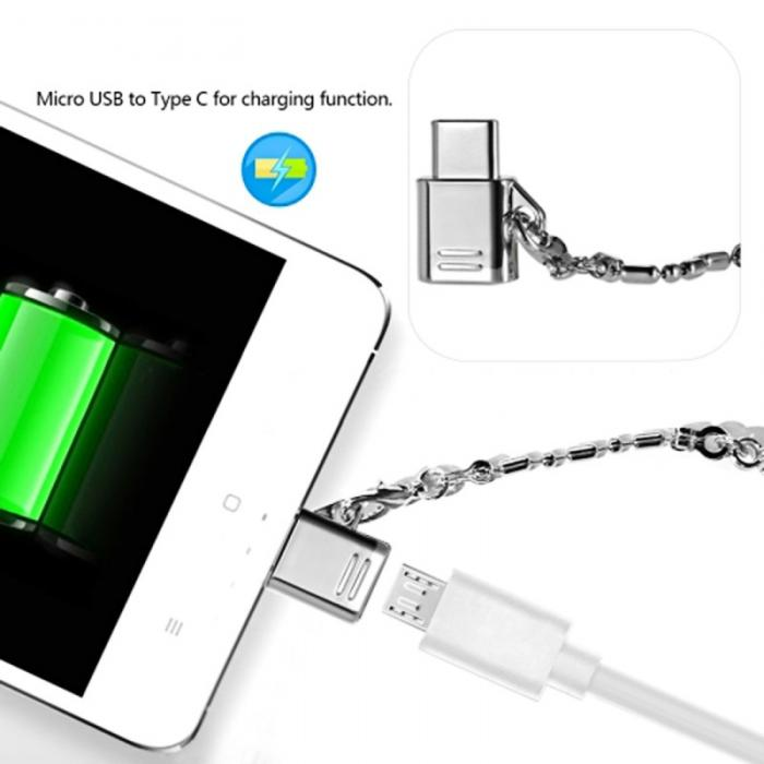 Computer Cables & Connectors Metal Keychain Type-c Adapter Kits Usb To Type C Otg Converter For Google Pixel Xiaomi Qjy99