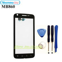 Vecmnoday For Motorola ATRIX 4G MB860 Digitizer Front Glass Repair Touch Screen Panel With Frame Replacement Black+tools(China)