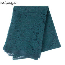 Misaya 3yard Embroidered Polyester Lace Fabric Wedding Scrapbook Decration Adornment Dress Craft Apparel Sewing Fabric Trim(China)