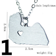 Germany/Italy/France/Spain Map Necklace Women And Men Stainless Steel Necklace Trade Jewelry Choker Necklaces & pendants H60(China)