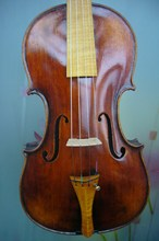 Baroque style professional violin 4/4 size flamed maple back violin