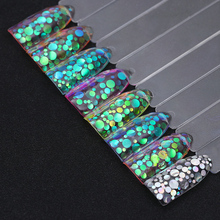 1Box Mermaid Nail Glitter 1.5g Semi-transparent Nail Sequins Colorful Round Paillette Manicure Nail Flakies