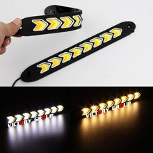 Flexible LED DRL Daytime Running Light Waterproof Universal COB DRL Kit Day Light Fog Light Cars Running Light 12v 20w