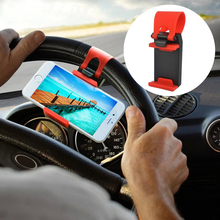 Universal Car Steering Wheel Clip Mount Holder Mobile Phone Holders For iPod MP4 GPS For Iphone 5 5S 6Plus For Samsung Galaxy S6