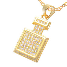 Nobility Lady Favorite Classic 3 Color Zircon Micro Pave CZ 19 * 11mm Perfume Pendant Top Micro-Inlaid Craft Making Necklace
