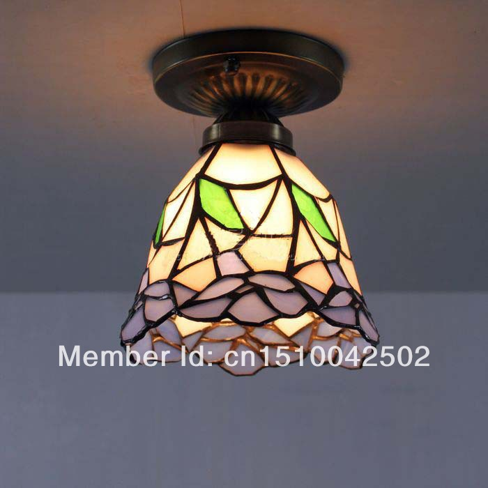 Tiffany Glass Ceiling European-style garden terrace with small floral aisle lighting DIA 14 CM H 15 CM<br><br>Aliexpress