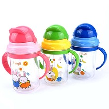 280ml Brand Baby Feeding Cup Kids Water Milk Cup Soft Sippy Infant Training Baby Feeding Cups for Infant(China)