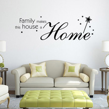 Quote Sticker home decoration accessories wall stickers bedroom decorations wall stickers home decor living room vinilos paredes(China)