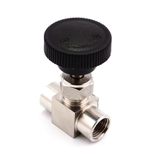 Free Shipping Stainless Steel 304 Needle Valve 1/8'' 1/4'' 1/2'' Female Thread BSP SS304 For Water Gas Oil(China)
