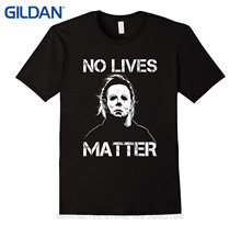 GILDAN Men Summer Short Sleeves T Shirt Men's No Lives Matter Tshirt Michael , Myers Tshirt Halloween Black M