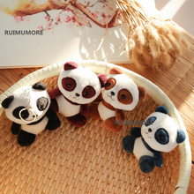50PCS Bulk Wholesale MIX Colors, Lovely 11cm Panda Little Plush Toys , Stuffed Panda Plush Toys ( Key Chain Toys )(China)