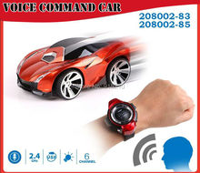 Voice Command RC Car,radio control toys watch comes with voice features rc model car toys,6CH  Smart Watch remote control Car