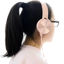 Buy Gift Girl fashions headphones Microphone Noise Cancelling Office Work music Headphones iPhone6/7 XiaoMi -pink for $15.47 in AliExpress store