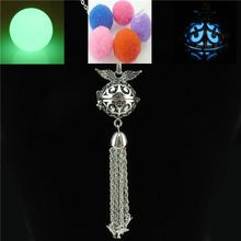 Free shipping R2171 Glow in the Dark Copper Animal Dolphin Tassel Diffuser Leaf Wing Locket Necklace