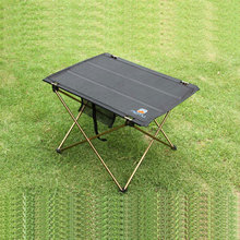 Outdoor Folding Table Camping Aluminium Alloy Picnic Table Waterproof Ultra-light Durable Folding Table Desk For Picnic(China)