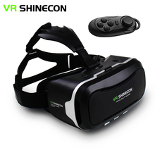"VR Shinecon II 2.0 Helmet Virtual Reality Glasses Mobile Phone 3D Video Movie Games for 4.7-6.0"" phone + Remote Controller(China)"
