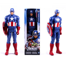 New! 1pc 12inch Marvel X-man toys The Avengers action toys Super hero America Captain Action Figures PVC toys for boys(China)