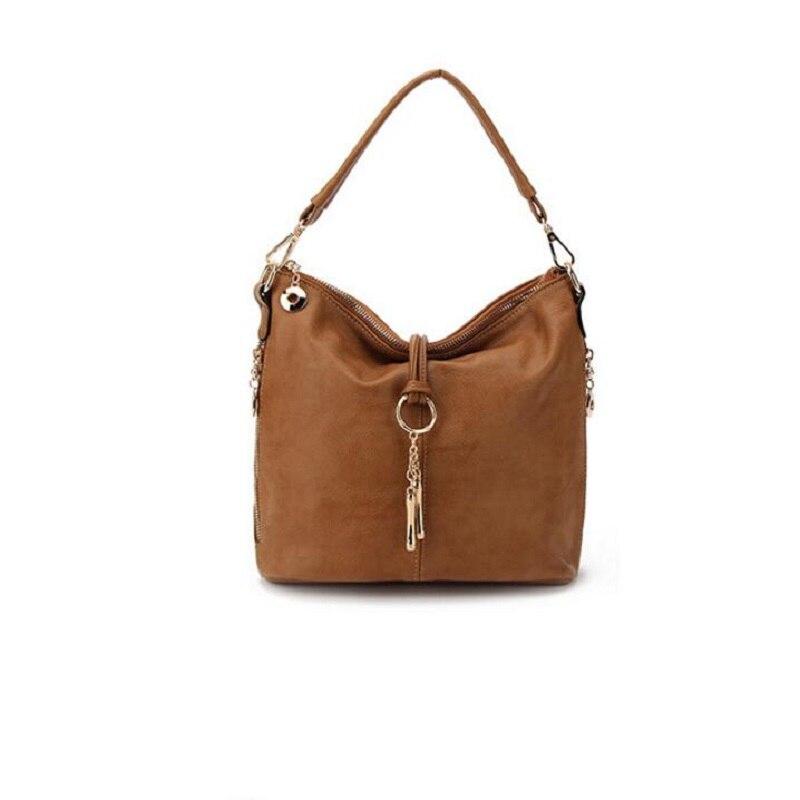Fashion Women Split PU Leather Shoulder Bag Female Suede Casual Crossbody handbag bao Casual Lady Messenger Hobo Top-handle Bags<br>