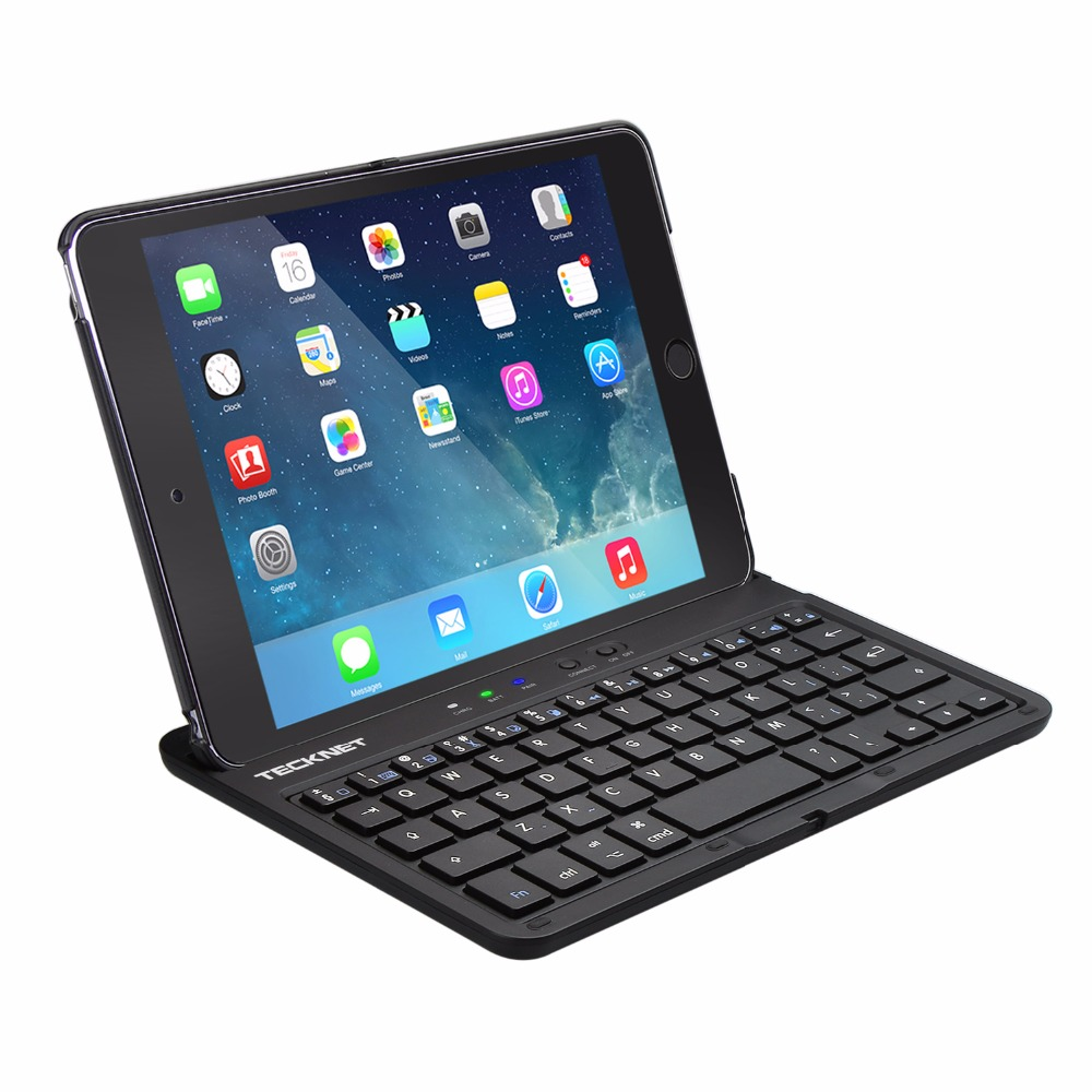 TeckNet Protective Case with Integrated Wireless Bluetooth Keyboard case, Auto Sleep / Wake &amp; Adjustable Stand for iPad Mini 4<br>