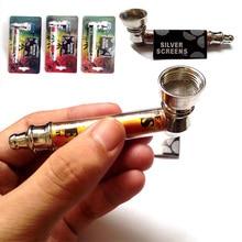 Metal Pipe Weed Smoking Pipes Gift Smoke Detectors Weed Grinder Smoke Narguile Jamaica Tobacco+Strainer